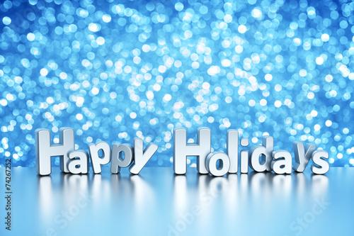 Bożenarodzeniowy błyskotliwości tło - Szczęśliwi wakacje