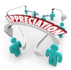 Appreciation Gratitude People Connected Arrows Thankful