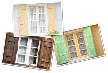 fenêtres de maisons créoles