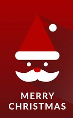 Merry Christmas with Santa Claus in red background