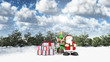 Santa in a winter landscape