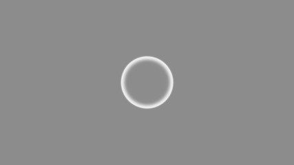 Shaky circle on grey background
