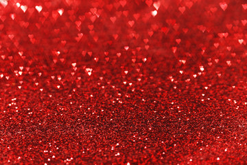 Red heart bokeh background