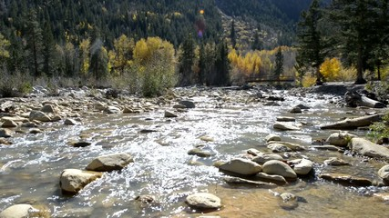 Foot bridge near Twin Peaks campground