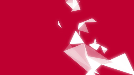 Geometric shapes on red background