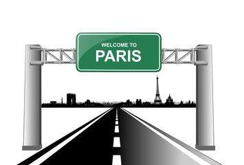 welcome to paris skyline