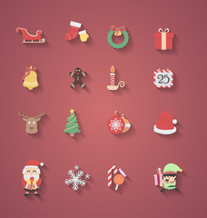 Christmas icon flat design