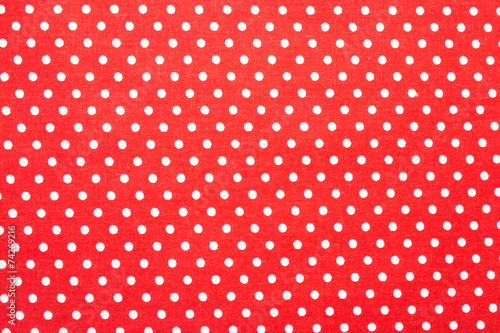 Tuinposter Stof red polka dot fabric