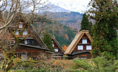 The Beautiful World Heritage Shiragawa landscape view