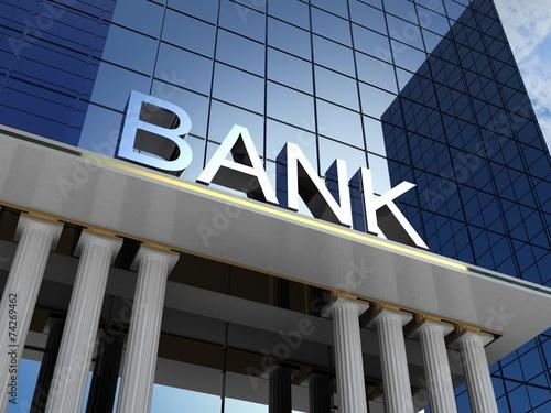 Bank building, 3D images - 74269462