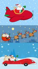 Santa Claus Transporting. Collection Set