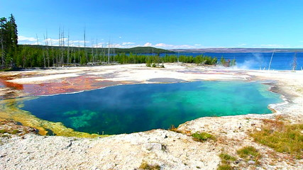 Abyss Pool Yellowstone Wyoming