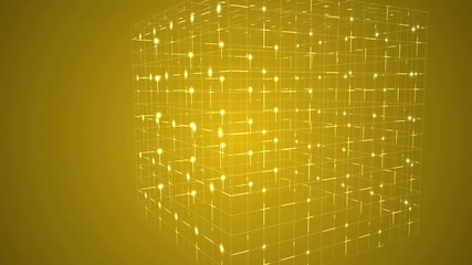 Grid moving on yellow background