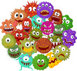 Cartoon bacteria collection set - 74270606