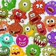 Cartoon bacteria collection set - 74270638