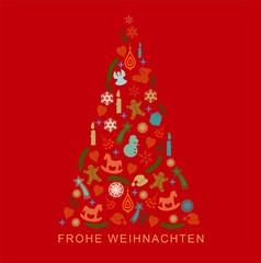 Weihnachtsbaum Gruß Frohe Weihnachten