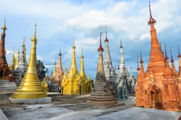 Ruins Pagodas of Indein, Inle lake myanmar