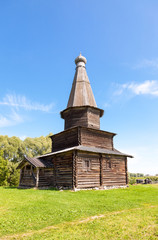 Old wooden orthodox church in Novgorod, Russia