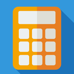 Modern flat design concept icon calculator. Vector illustration.