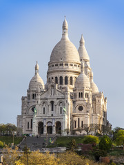 Paris, France. A view of a basilica Sakre-Ker at Montmartre