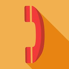 Modern flat design concept icon  phone. Vector illustration.