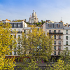 Paris, France. A view of the Boulevard at the bottom of Montmar