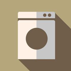 Modern flat design concept icon washing machine. Vector illustra