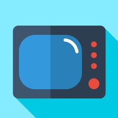 Modern flat design concept icon monitor  tv. Vector illustration