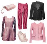 Fototapety Female elegant clothes set of clothes.Isolated.