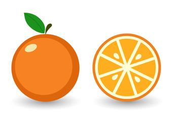 Векторный значок апельсин