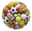 Leinwanddruck Bild - Sport balls isolated on white background