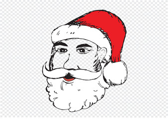 Santa Claus for Christmas hand drawn