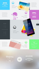 Elements of User Interface for Web. Vector illustration