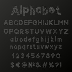 Decorative chalk alphabet
