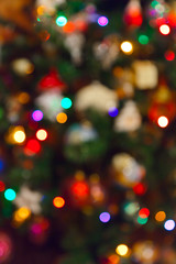 Blurred photography christmas tree - holiday background