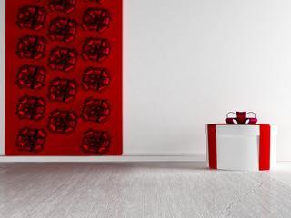 gift on the white floor
