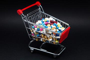 carro de compra con capsulas