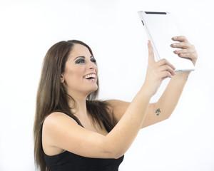 Ragazza con tablet