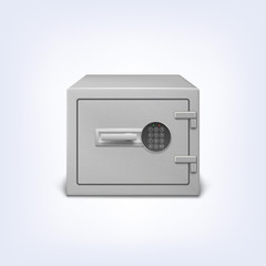 Safe with electronic lock.