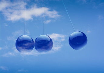 Blue Ball Background