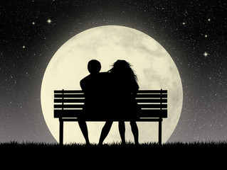 Lovers on bench