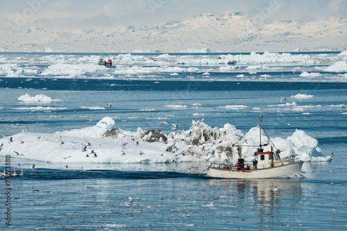 Fotobehang Antarctica 2 Fisherman boat, Greenland