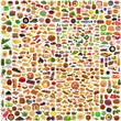 canvas print picture - prodotti alimentari collage