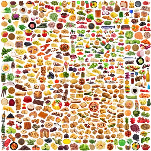 canvas print picture prodotti alimentari collage