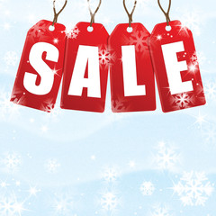 Snow background for Christmas and New Year sale