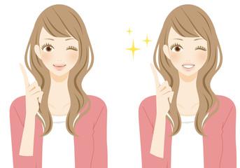 笑顔の女性 ポイント