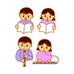 学習する子供