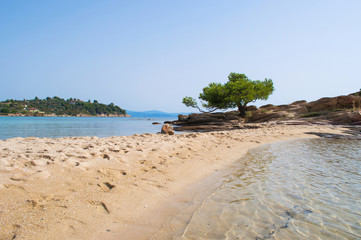 Sandbank on the Lagonisi beach