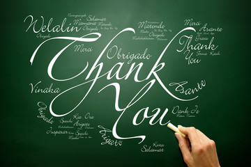 Thank You lettering Greeting Card in many languages