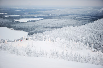 Scenic winter view of Finland